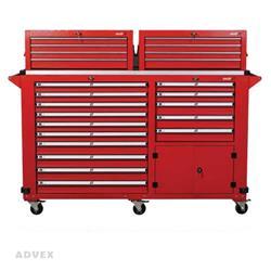 جعبه ابزار کارگاهی 15 کشویی چرخدار با کمد زیرین مدل SU1700 شاهرخ ابزار