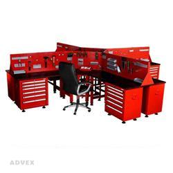 میز کار ثابت چهارطرفه حرفه ای مدل T4S شاهرخ ابزار